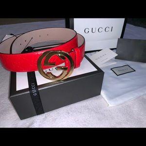 New Gucci Signature Leather Belt